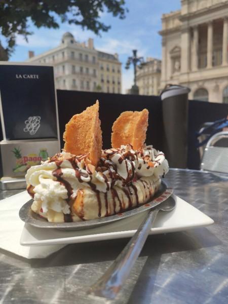 Marseille - Création glacée #4 : Le Banana Split de la Boutique du Glacier